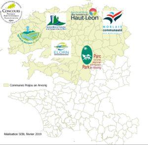 Communes ouvertes au concours Prajoù an Arvorig 2019 et les organisateurs