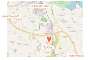 Plan accès Ty Coz St Pol
