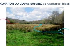 Restauration du cours naturel du ruisseau de Restancaroff